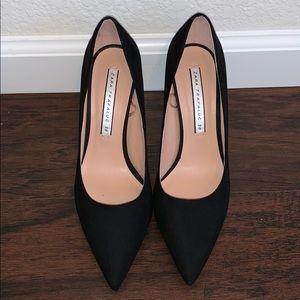 Worn once ZARA black suede pump heels